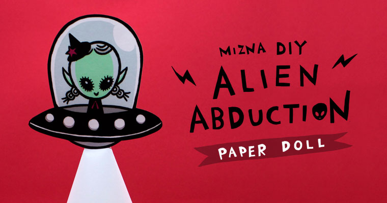 Alien Abduction – Free paper doll