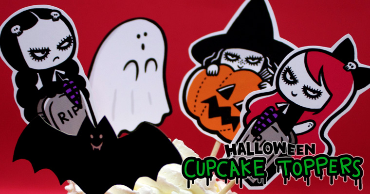 Halloween Cupcake toppers – FREE Printable
