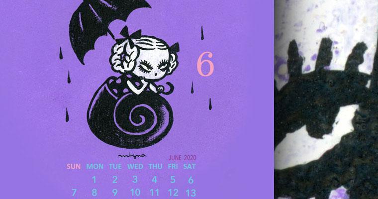 2020年6月のカレンダー付き壁紙 スマホ用 – 無料ダウンロード