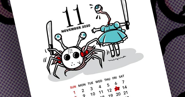 2020年11月のカレンダー付き壁紙 スマホ用 – 無料ダウンロード